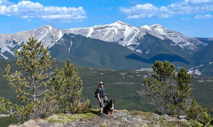 Nice views of Mt. Burke behind part way up