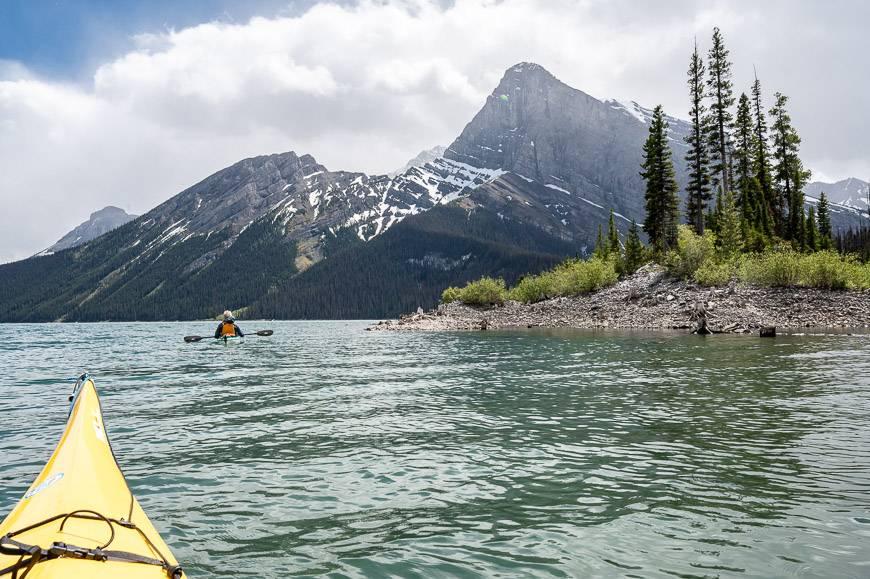 Kayaking Upper Kananaskis Lake