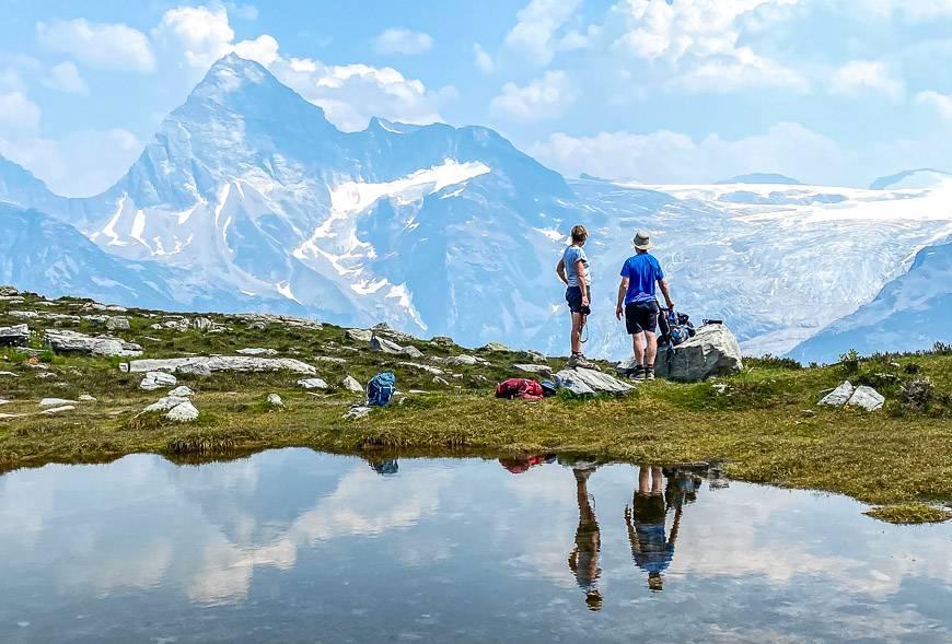 Reflection in a pond beneath Abbott Ridge, Glacier National Park