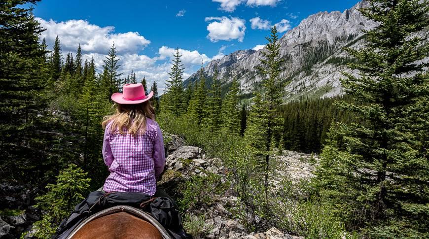 Gorgeous mountain backdrop heading back to Sundance Lodge