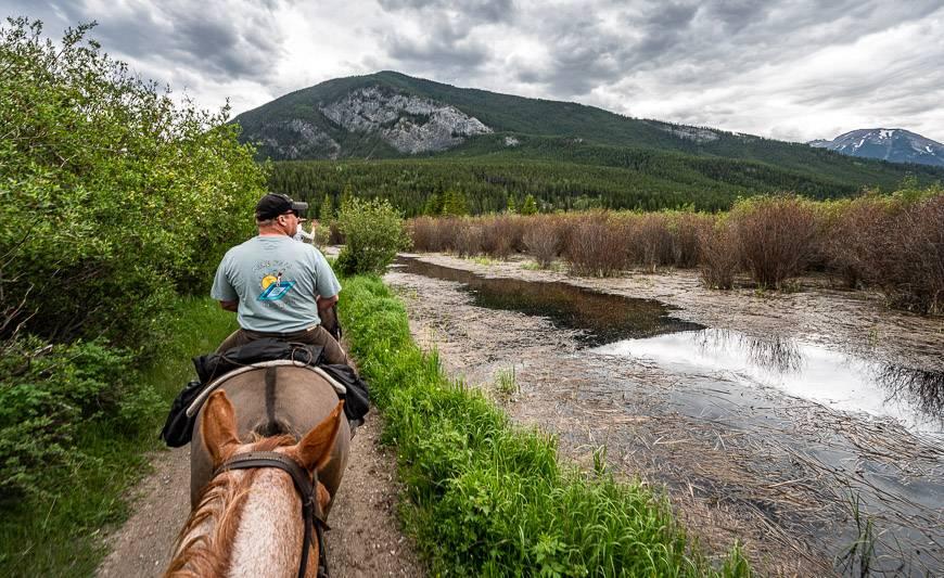 Rturning on horseback via the Marsh Loop