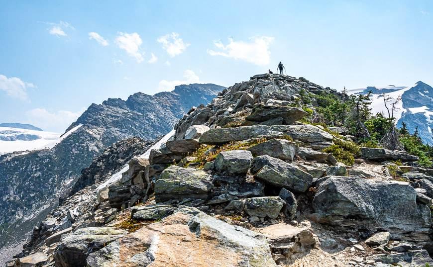 Heading up the final ridge