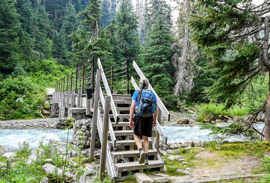 Cross Asulkan Creek via this bridge