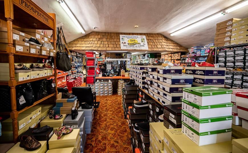Inside Henry's Shoes in Trochu