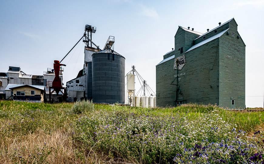 I always love looking for old grain elevators in Alberta