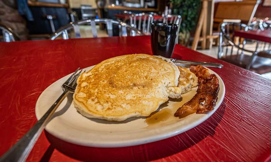 Large portion sizes at the LadySmith Cafe
