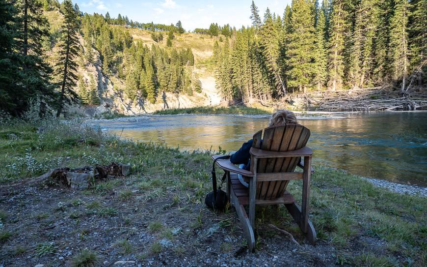Enjoying views along the Ghost River