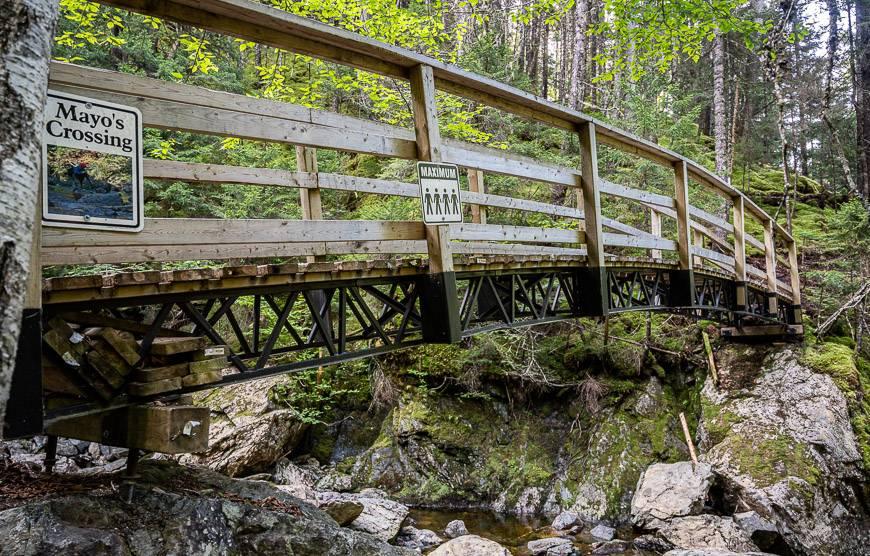 One of the few bridges you cross