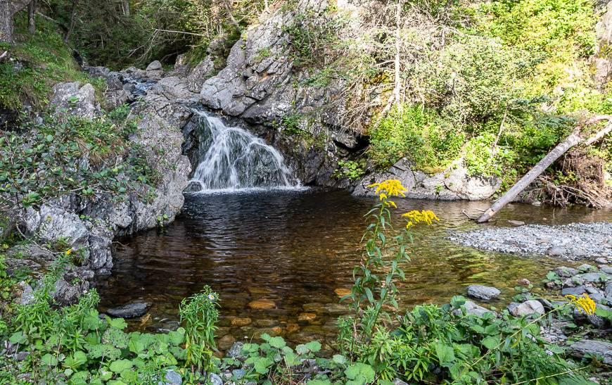 A fabulous swimming hole at Telegraph Brook