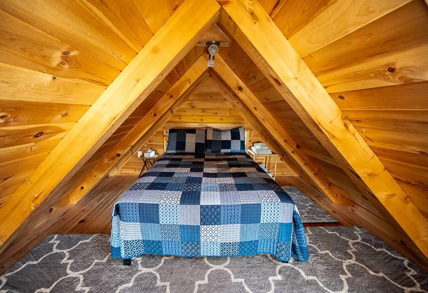 The upper bedroom