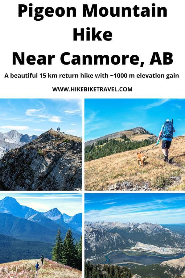 The beautiful 15 km (return) hike up Pigeon Mountain near Canmore, Alberta