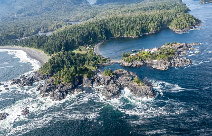 The end point of the Nootka Trail is at Friendly Cove
