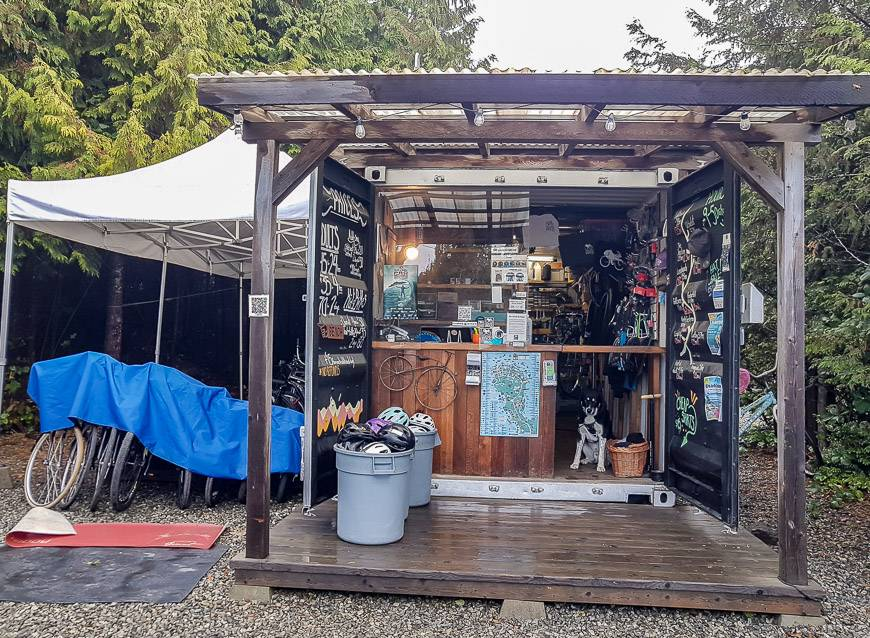The Tofino Bike Company rents all types of bikes from cruisers to geared bikes and accessories like surf racks, and chariots